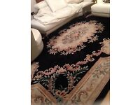 Beautiful Chinese hand carved rug