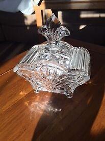 Cut Glass Bombom Dish