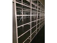 job lot 10 bays link industrial shelving (pallet racking, storage )