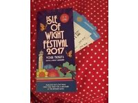 2 X Full Weekend Camping Isle of Wight Festival Tickets.