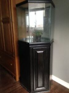 MODERN, LIKE NEW 50 GALLON OCTAGON FISH TANK OR REPTILE TANK