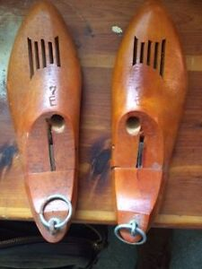 Vintage wood shoe tree from 1960's