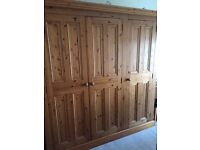 Solid Pine 3 door wardrobe as part of a bedroom furniture set. Can also be bought individually.