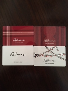 4-$50 Gift Cards for Reitmans for sale
