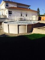 Swimming pool, with pool shed, NG heater, all accessories