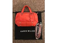 Karen Millen Handbag In Coral/Orange
