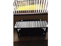 """Corner Black Glass TV Unit. TV Unit in very good condition. Suits up to 40"""" tv. Two shelves"""