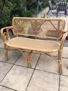 $150. Wicker Cane 3 seater couch and 2 chairs. Great condition. Glen Waverley Monash Area Preview