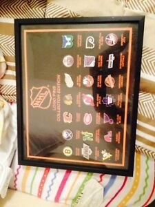 NHL Logo Pin Collection Framed