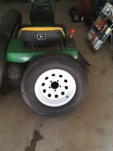 "14"" Trailer tires and rims"