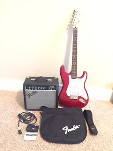 Fender  Strat, Squire G15 W/amp, case, tuner & p cable
