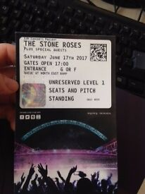 2 x Pitch Standing Tickets - THE STONE ROSES (Wembley Stadium)