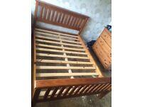 Standard Double Bed - Wood Veneer finish
