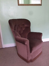 Couple of Upholster Armchairs (rocking chair effect)