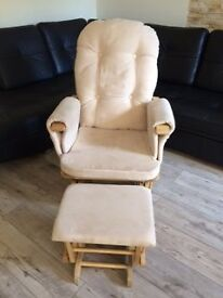 Rocking Nursing Chair with footstool