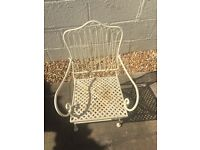 Child's Metal Garden Chair