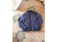 Zara men's medium lightly quilted jacket in grey