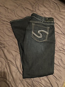3 pair of Silver Jeans size 34 waist