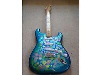 Blue Flower, Paisley Fender Stratocaster made in Japan