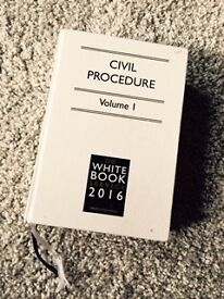 Civil procedure rules 2016/white book/ volume 1 with all supplements plus a cost supplement book
