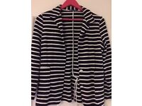 Navy and white striped petit bateau - small