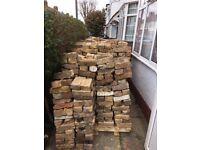 Mixed Yellow & Red London Stone Bricks - aprox. 1300 bricks