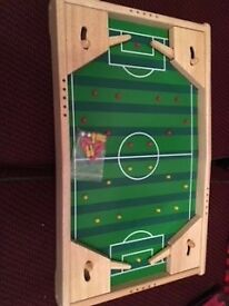 Wooden table top flipper football game