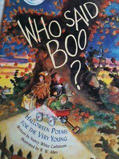 Boo Halloween Poem (Who said boo?: Halloween poems for the very)