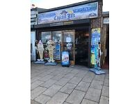 Shop Lease For Sale - Ice Cream, Fish and Chip Shop at the beach front in Aberdeen for Sale