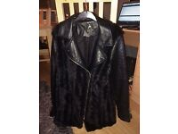 Ladies Faux fur/leather jacket