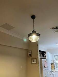 2 x Pendant lights black/clear from Beacon Lighting