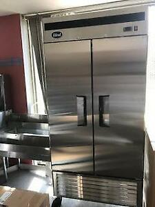 2 door commercial stainless steel refrigerators - Brand new - OVER STOCKED  SPECIAL