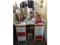 Retro 1950s kidney shaped dressing table