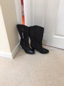 For Sale New Black Leather Ladies Boots by M & S