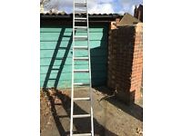 Double extension aluminium ladder ABRU 20ft