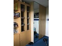 Used Ikea shelving and wardrobe units, dismantled ready to collect