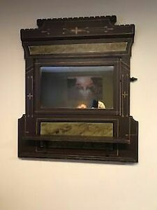 36 by 39 antique mirror, solid wood