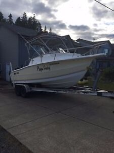 Awesome fishing boat for sale or trade (bobcat / mini excavator)