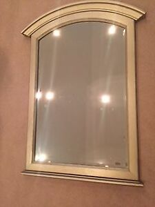 Large Silver Beveled Mirror