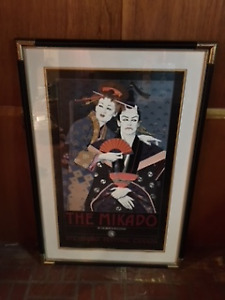 Mikado Opera Print framed