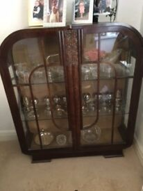 Beautiful Art Deco Glass cabinet