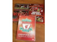 3 unmissable Liverpool FC DVDs - Official History; Road to Istanbul; Greatest Ever Goals