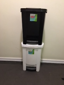 GARBAGE/ WASTE CANS with SWING TOPS, SWING 'N TOSS and STEP-ONS