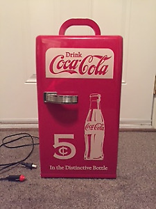 Coca Cola Retro Mini Fridge Vintage Cooler Collectible Red