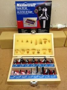 ROUTER BIT SET, 15 pieces in wood chest Kitchener / Waterloo Kitchener Area image 2