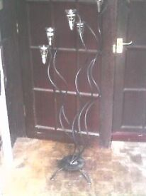 IRON CANDLE HOLDER - 132cm HIGH - HOLDS 5 CANDLES - CLACTON - CO15 6AJ