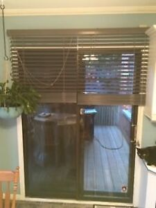 5 Foot patio Door Venetian Blind Set