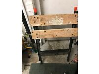 Black and Decker Workbench and fittings, good condition
