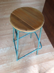 3 rustic bar stools for sale