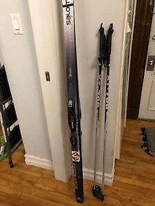 Salomon Cross-Country Skis, Rossignol Poles and Boots